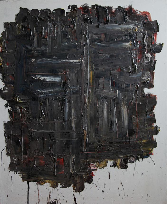 """Algimantas Černiauskas. """"Primityvūs pusryčiai"""". 2013, drobė, aliejus, 110 x 90"""