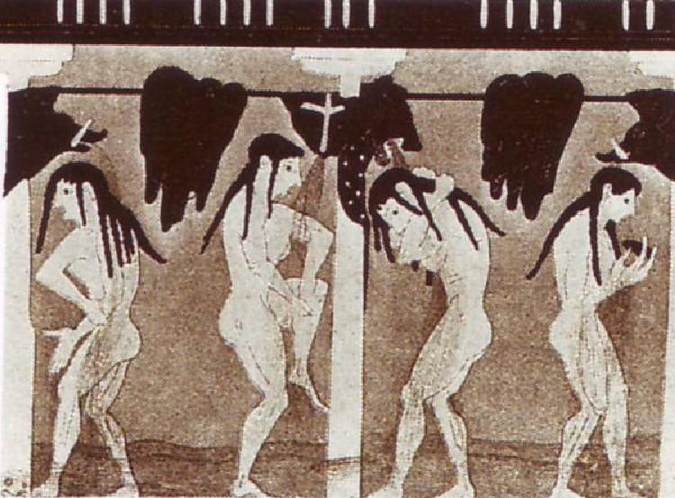 Piešinys ant IV a. pr. Kr. Atėnų vazos