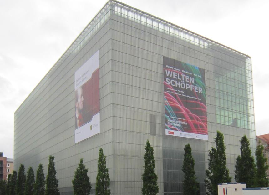 Leipcigo dailės muziejus, kur eksponuota R. Wagneriui skirta paroda. Melitos Milin nuotrauka iš autorės archyvo