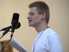Poezijos pavasaryje 2005. Kornelijaus Platelio nuotrauka
