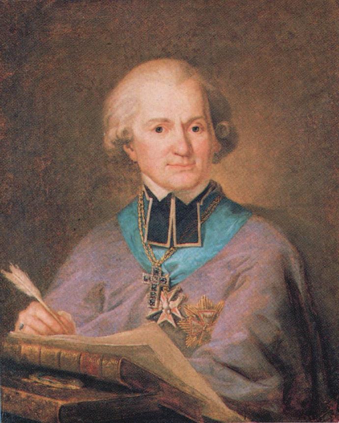 """Mateusz Tokarski. """"Adomo Naruševičiaus portretas"""". Drobė, aliejus, po 1791"""