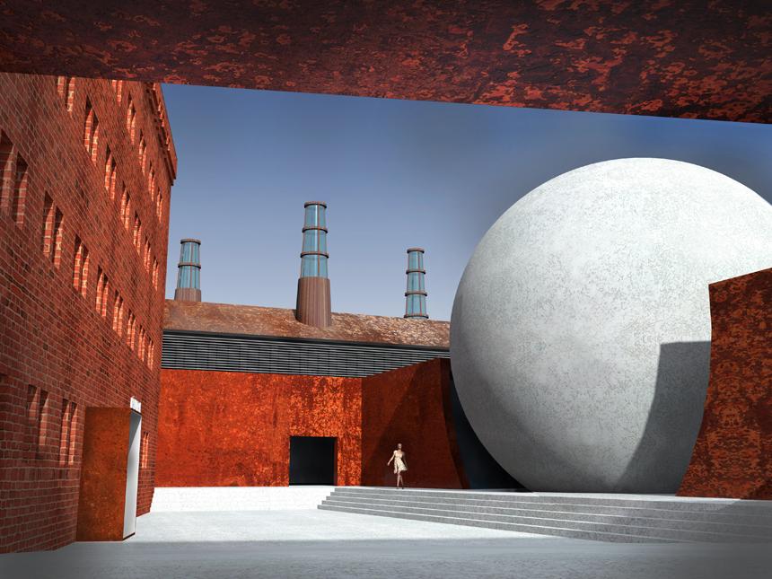 """UKA architektų grupės projekto """"Liepaja Brinum zeme"""" (liet. """"Liepojos stebuklų žemė"""") vizualizacija"""