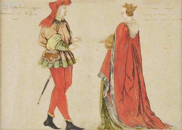 Vytauto ir Onos atvaizdas, sukurtas XVI a. pradžioje