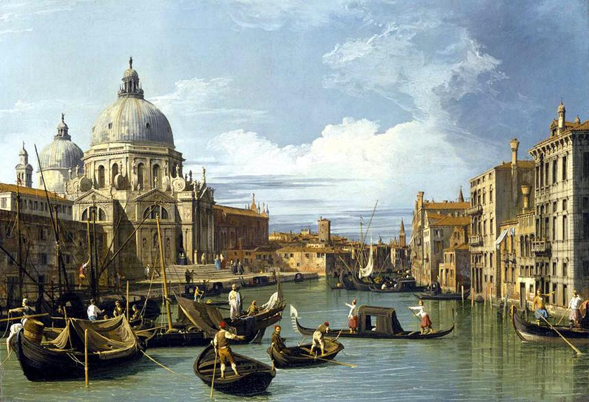 """Canaletto. """"Didysis kanalas"""", apie 1730 (Bostono vaizduojamųjų menų muziejus)"""