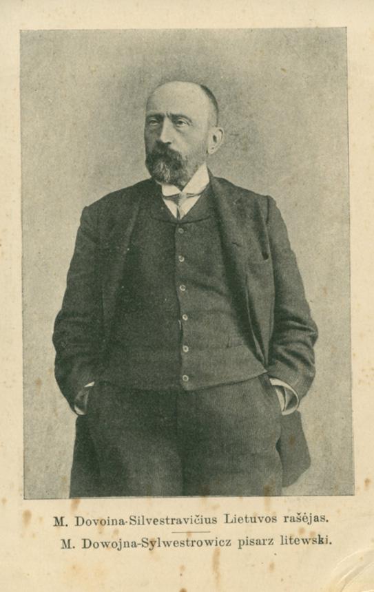 Martyno Kuktos spaustuvėje M. Dovoinos-Silvestravičiaus išleistas atvirukas. Apie 1908 m.  (Iš V. Girininkienės asmeninio archyvo)