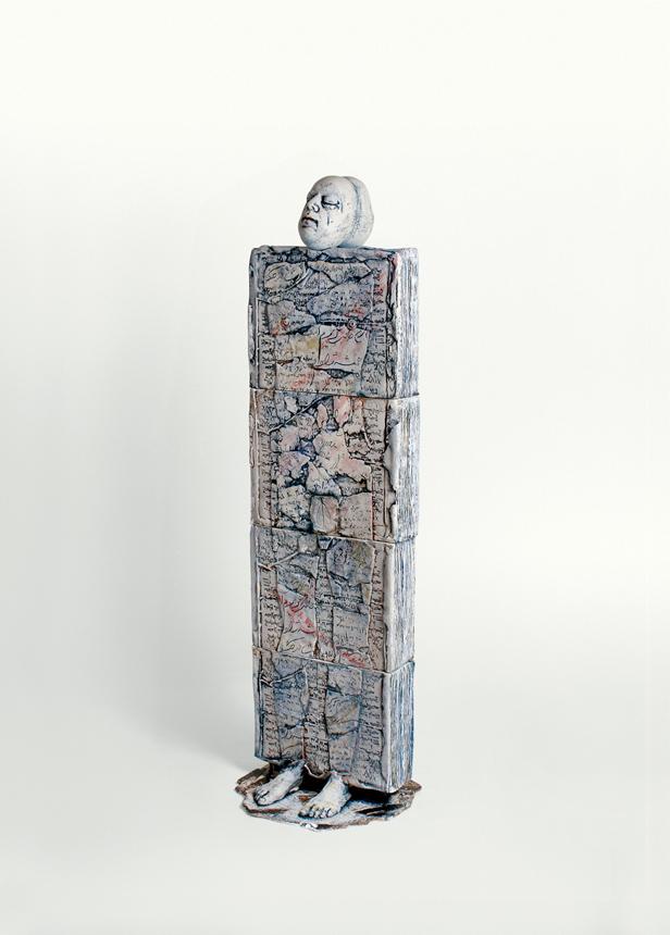 """Arina Ailincai (Rumunija). """"Žmogaus gyvenimo knyga"""", akmens masė,170x40x12, 2014"""