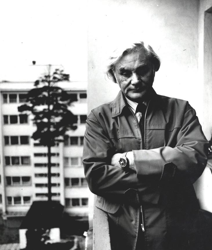 Eduardas Mieželaitis, 1974 m. spalis. Antano Sutkaus nuotrauka iš LLTI bibliotekos fototekos