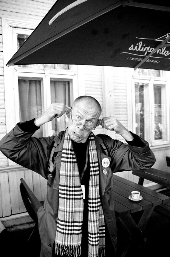 Vieno eilėraščio konkurso nugalėtojas Ričardas Šileika. Aistės Jūrės nuotrauka