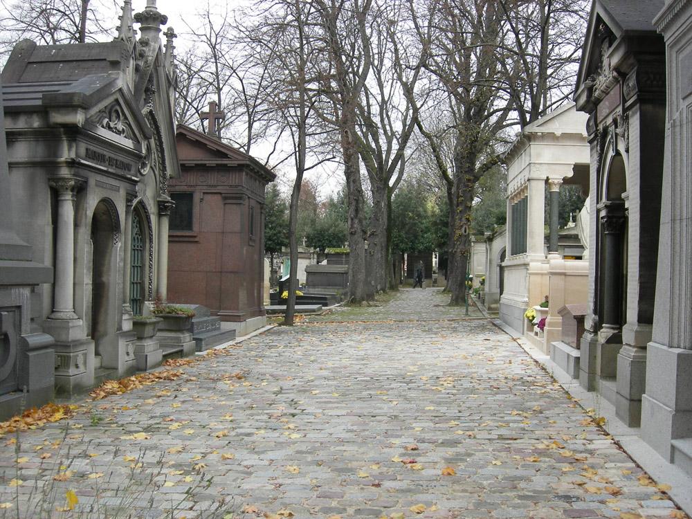 Alėja ir gatvelė Per Lašezo kapinėse