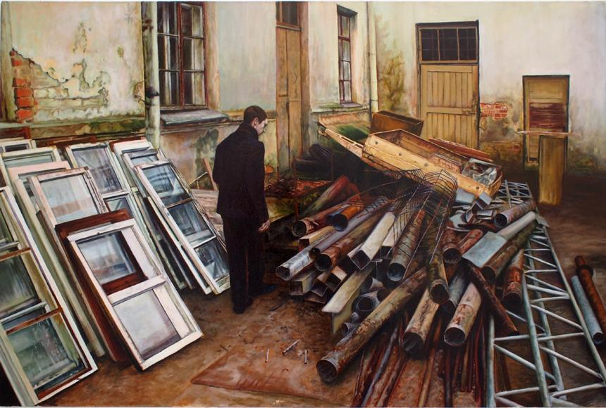 """Leonidas Alekseiko. """"Autoportretas"""", 2014 (2014 metų konkurso """"Jaunojo tapytojo prizas"""" antrosios premijos ir žiūrovų simpatijų prizo laimėtojas)"""