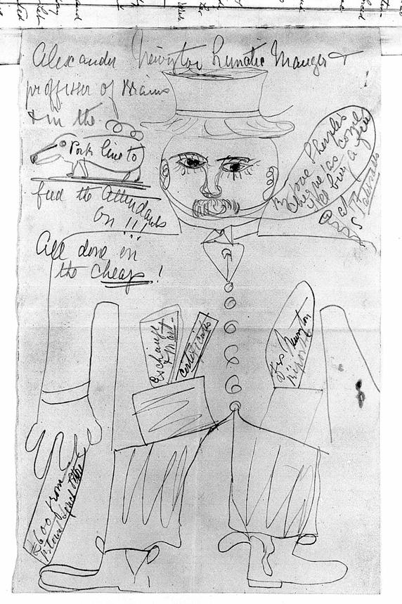 Dr. Alexanderio Newingtono portretas (1891), nupieštas Taishursto psichiatrinės ligoninės paciento