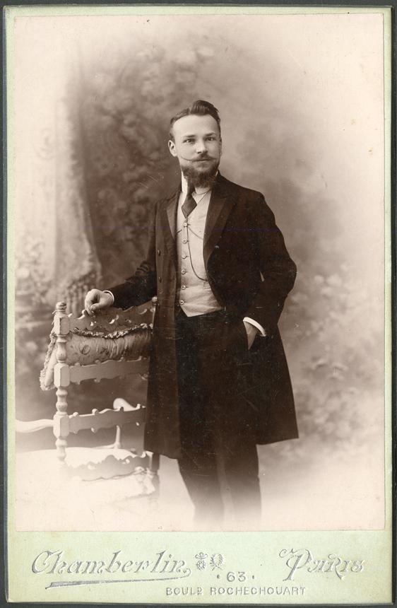 Juozas Gabrys Paryžiuje. Apie 1908 m. VUB RS, f. 155-1030