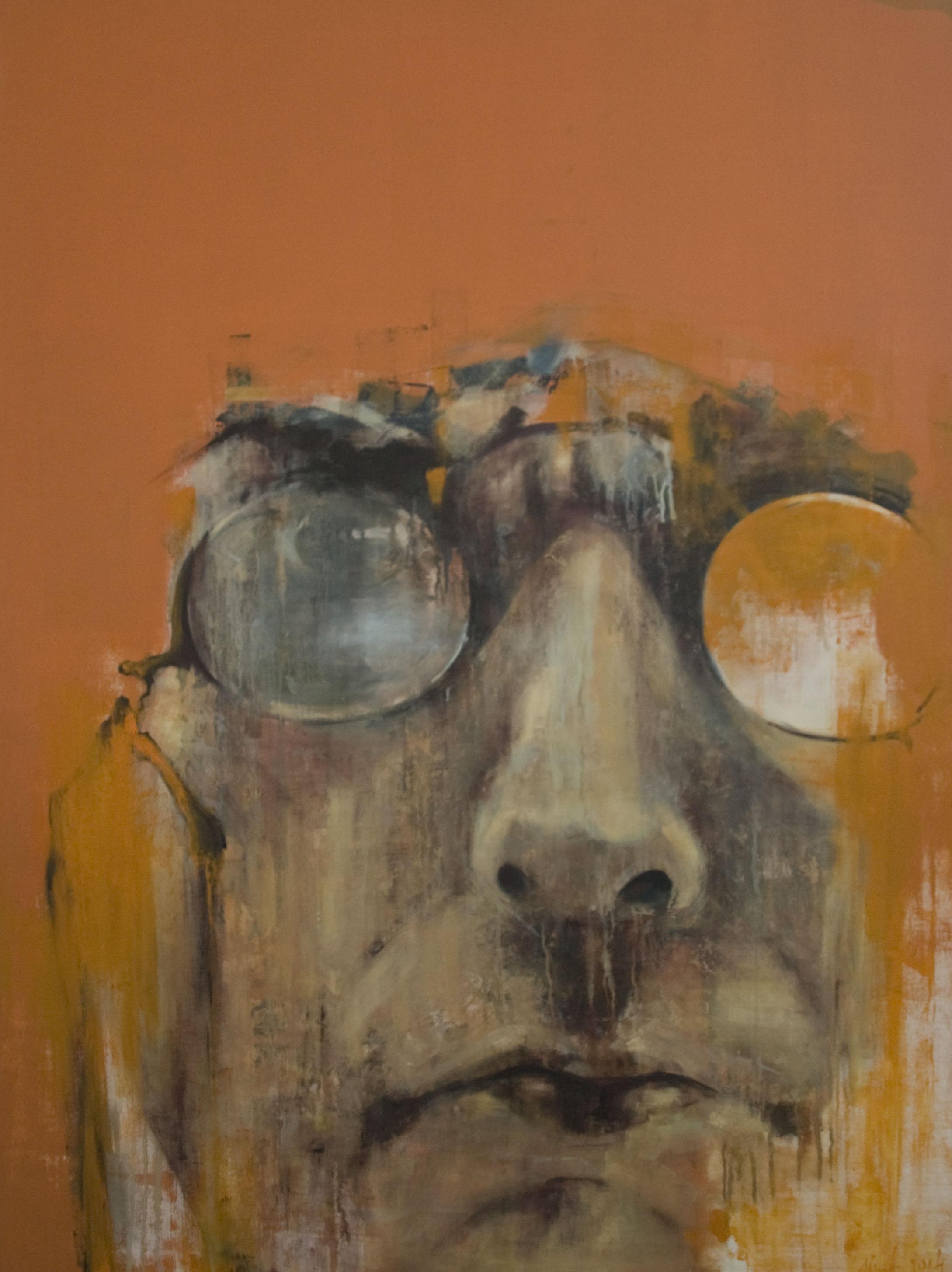 """Benas Alejūnas. """"Jurgis"""", aliejus, akrilas, drobė, 160 x 120 cm, 2014"""