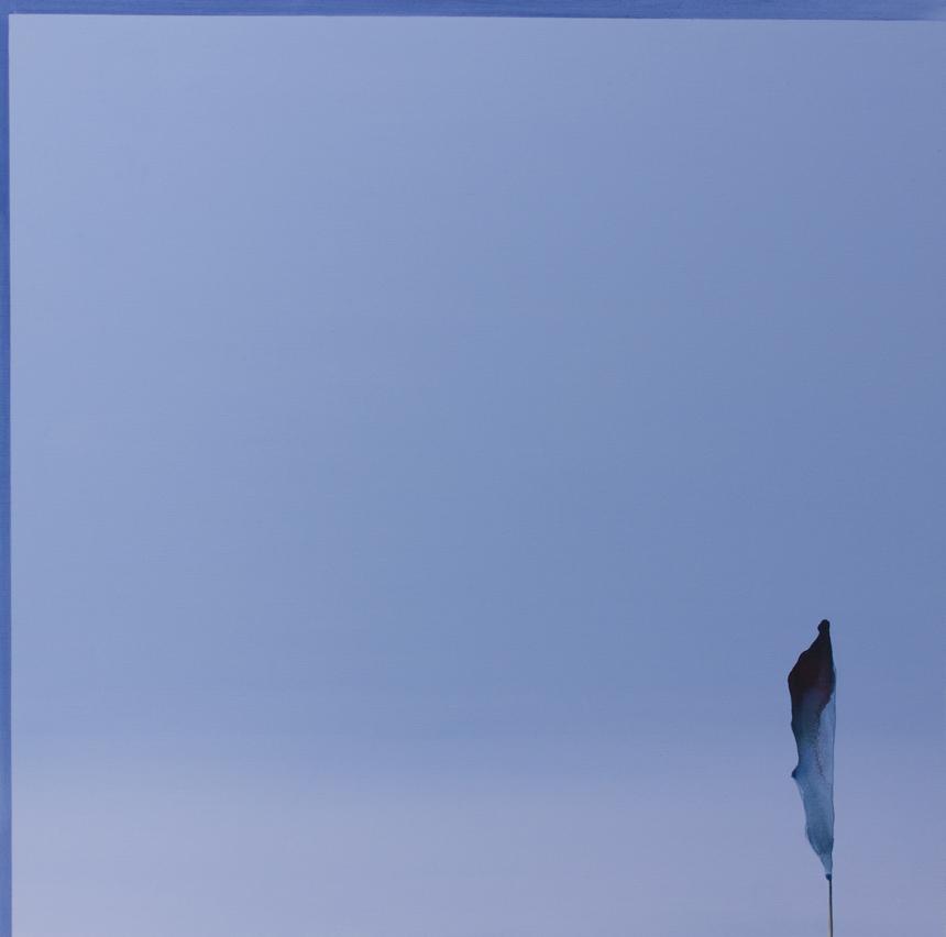 """Linas Jusionis. """"Atokvėpis"""", iš serijos """"Anapus laiko, laukiant, kol tai nutiks"""", 115x115cm, 2014."""