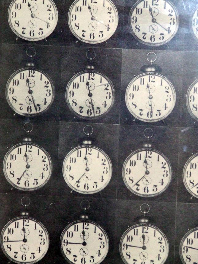 """James Riddle. """"Viena valanda"""", 1966. Iš Jurgio Mačiūno FLUXUS kabineto Šiuolaikinio meno centre. gn nuotrauka"""