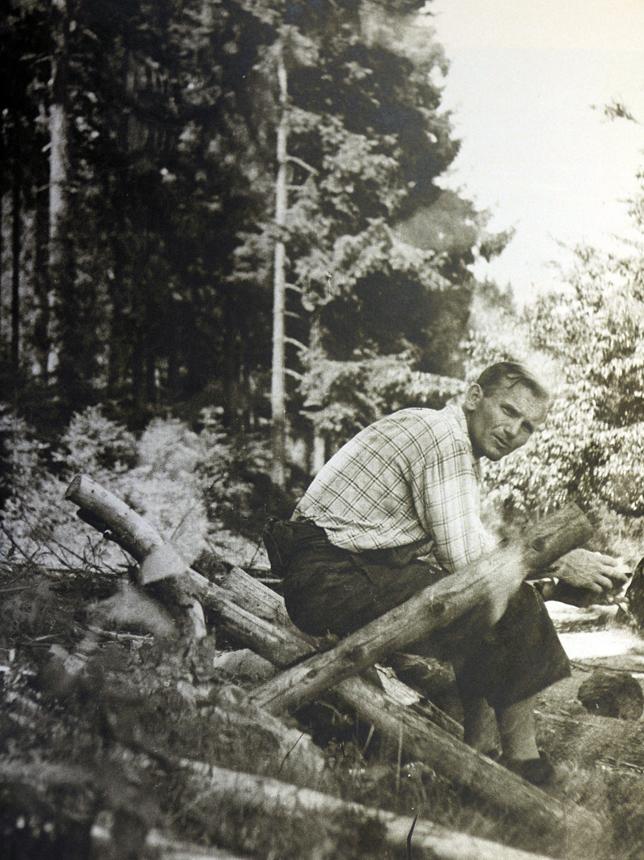 Karolis Wojtyła iškyloje. XX a. 6 deš. pradžia. Nežinomo autoriaus nuotrauka