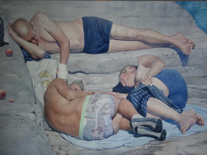 """Jevhen Petrov (Ukraina). """"Vilkai"""", akvarelė, popierius, 100 x 150, 2014."""