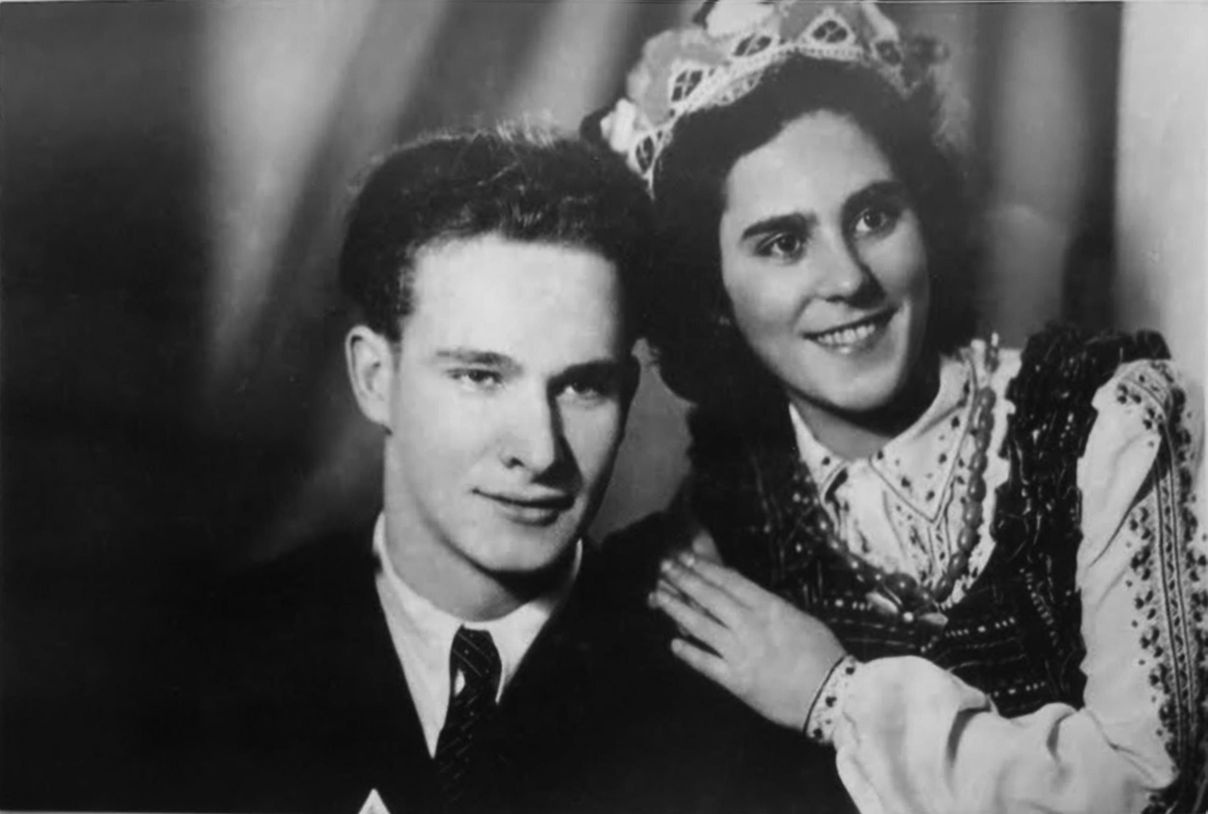 Alfonsas Bunkus ir Marija Marinova, 1952 metai. Nuotrauka iš asmeninio archyvo