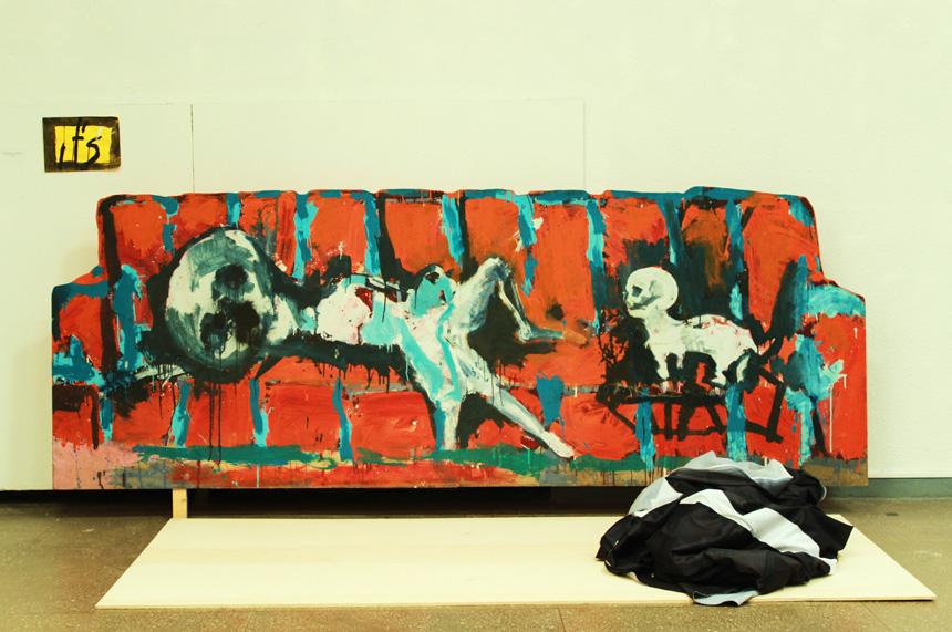 """Auris Radzevičius. """"Karšta popietė ant sofos su gyvūnėliu"""", 2010"""