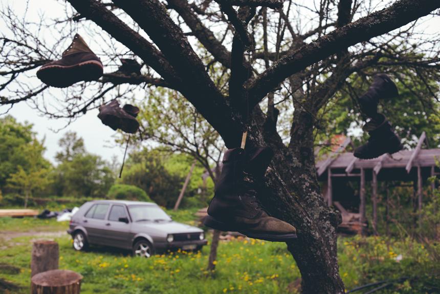 Skulptoriaus Roberto Strazdo sodyba. Arklėnai (apie 23 km nuo Vilniaus), Rukainių seniūnija, Vilniaus rajonas. Pauliaus Peleckio nuotrauka