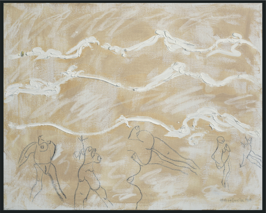 """Aldona Gustas. """"Vasara"""", drobė, aliejus, piešinys, 40,5 x 50, 1989"""