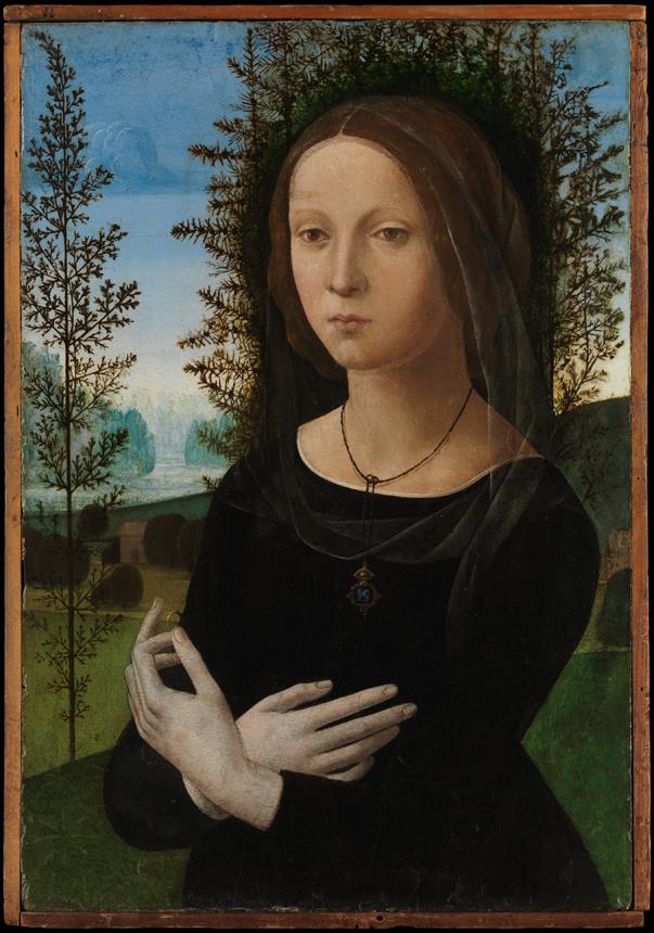 "Lorenzo di Credi. ""Moters portretas"" (Niujorko Metropoliteno muziejus)"