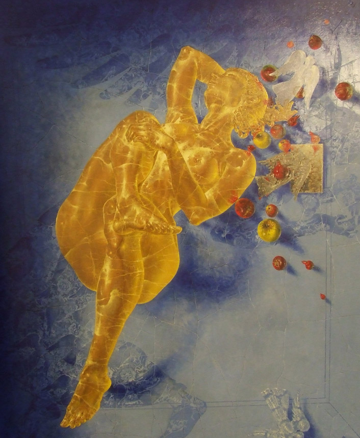 """Arturas Aliukas. """"Mozaikos anatomija"""", drobė, aliejus, 180 x 150, 2016 (fragmentas)"""