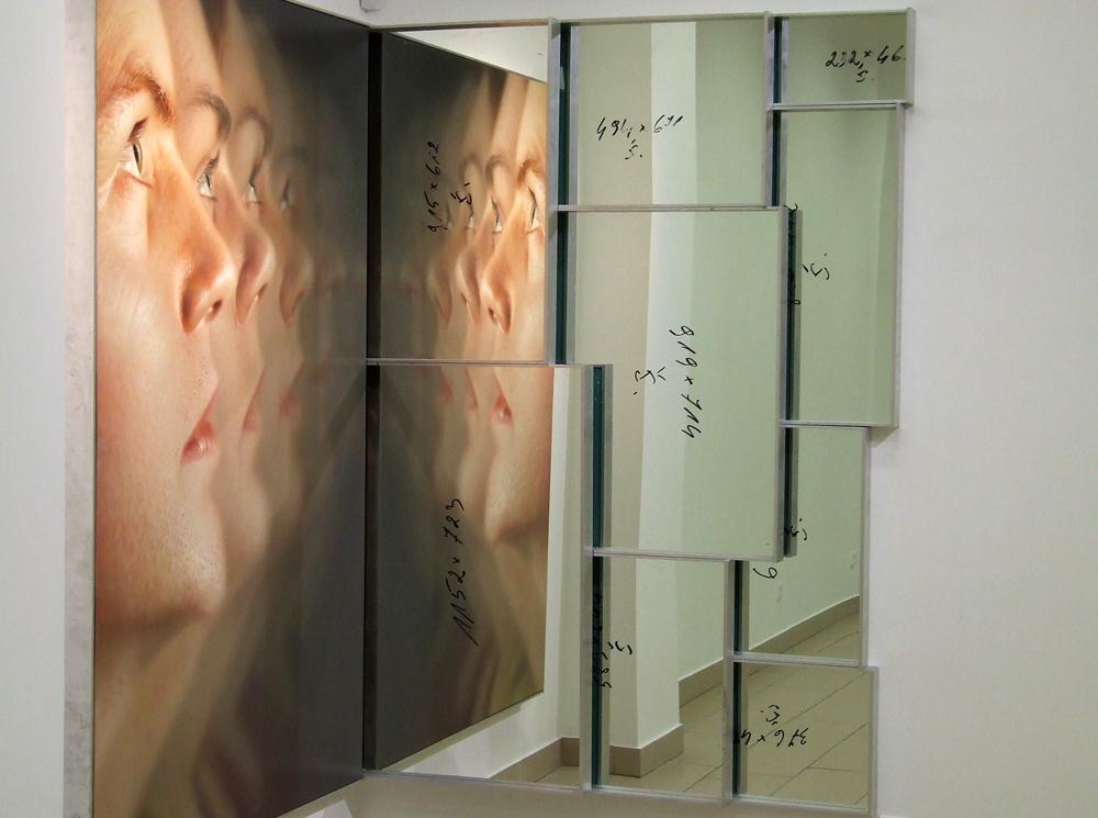 """Ray Bartkus. """"Tikintieji"""" (fragmentas), aliejus, drobė, aliuminis, stiklas, 2005–2008"""
