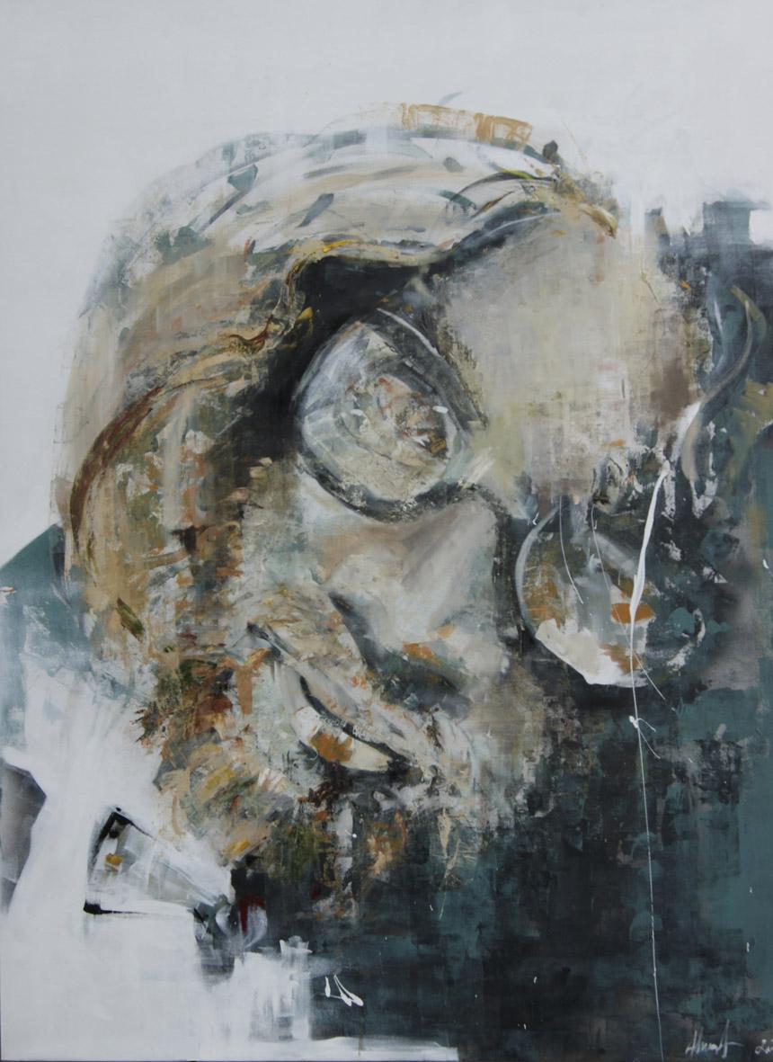 """Benas Alejūnas. """"Artūras"""", drobė, akrilas, aliejus, 160 x 120, 2014"""