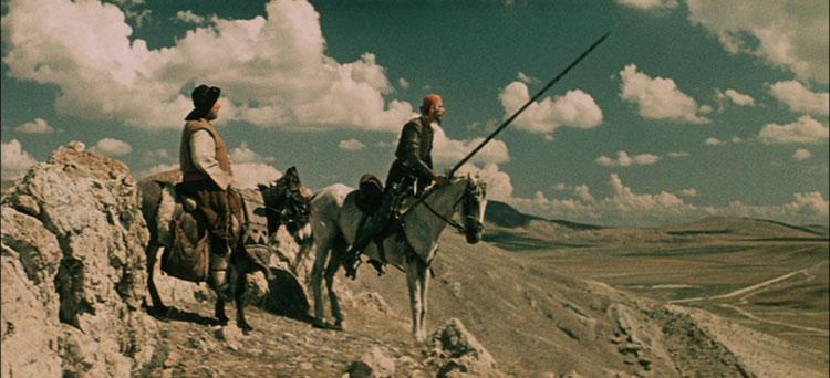 """Filmo """"Don Kichotas"""" (rež. G. Kozincev) kadras"""