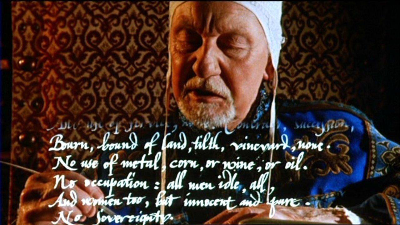"Filmo ""Prospero knygos"" (rež. P. Greenaway) kadras"