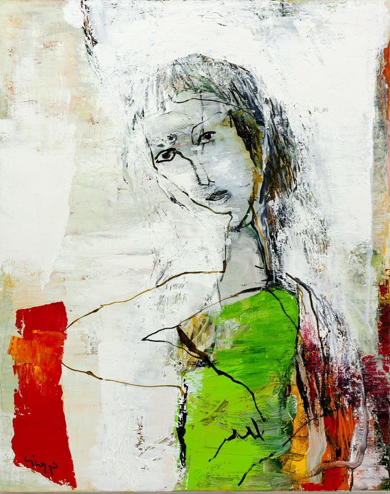 """Vytenis Lingys. """"Lange"""", drobė, aliejus, 100 x 80, 2014"""