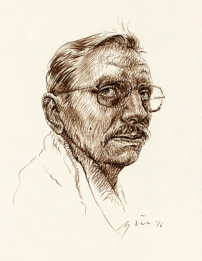 Ričardas Gavelis. Ugnės Žilytės piešinys