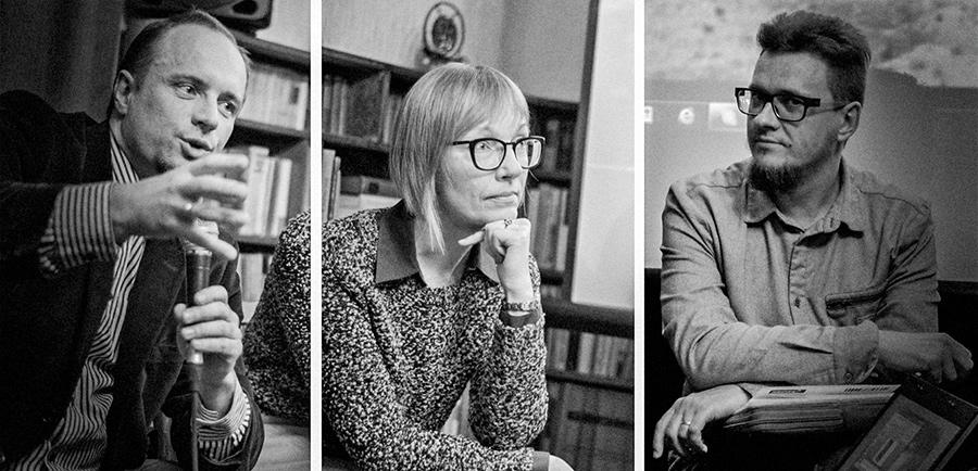 Vilius Ivanauskas, Skaidra Trilupaitytė ir Vytautas Michelkevičius. Sauliaus Vasiliausko nuotraukos