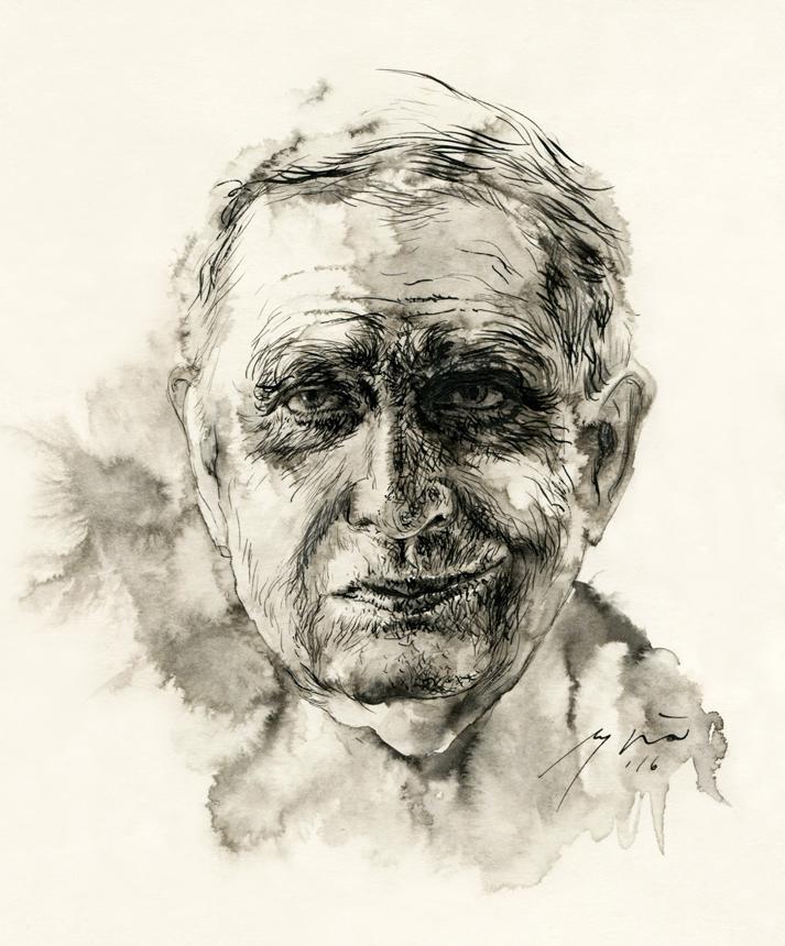 Tomas Venclova. Ugnės Žilytės piešinys