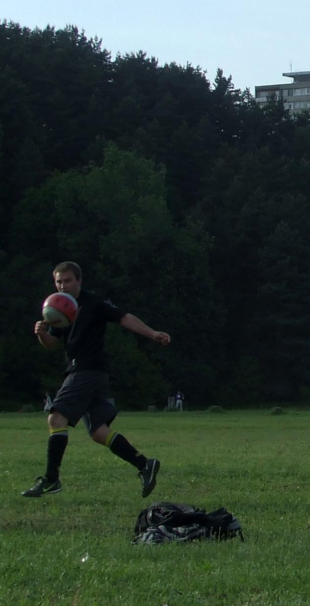 Donatas Petrošius futbole... Vitos Norvilienės nuotrauka
