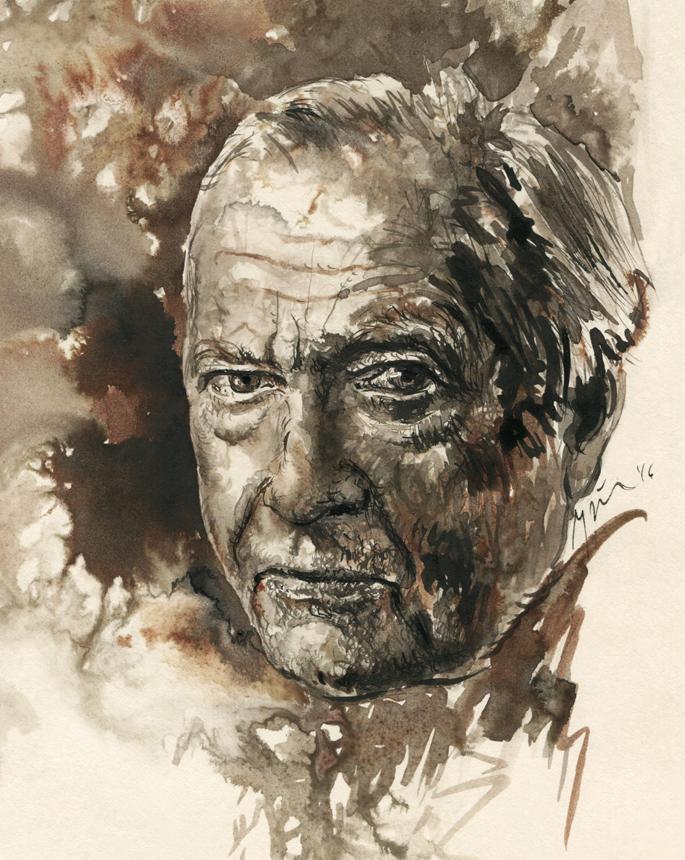 Hans-Georg Gadamer. Ugnės Žilytės piešinys