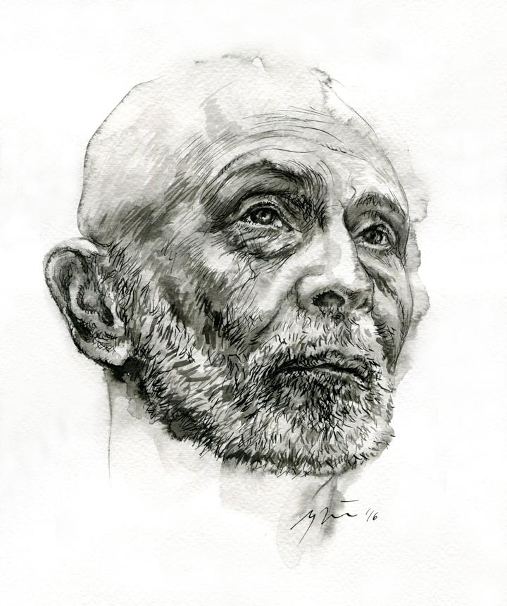 Leonidas Juzefovičius. Ugnės Žilytės piešinys