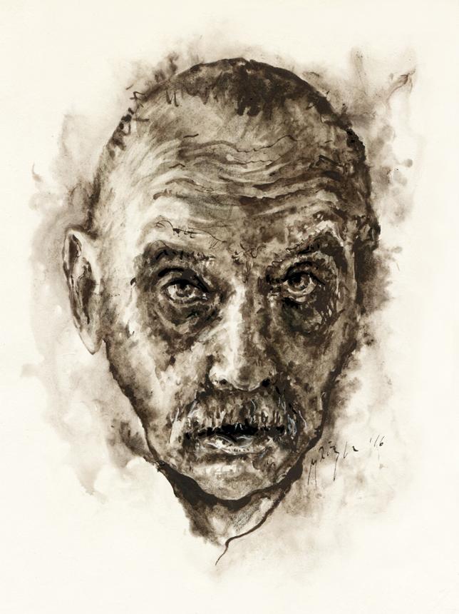 Algirdas Julius Greimas. Ugnės Žilytės piešinys