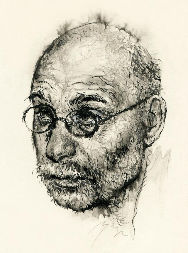 Grigorijus Čchartišvilis. Ugnės Žilytės piešinys