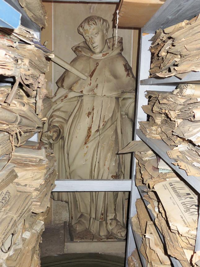 Judaikos saugykla Vilniaus šv. Jurgio bažnyčioje. Akvilės Rėklaitytės nuotrauka