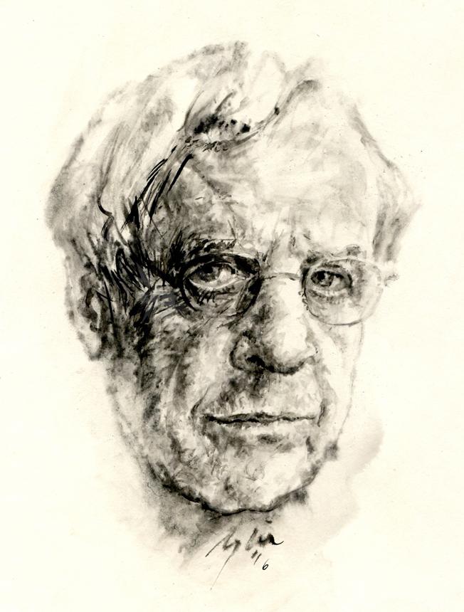 Charlesas Simicius. Ugnės Žilytės piešinys
