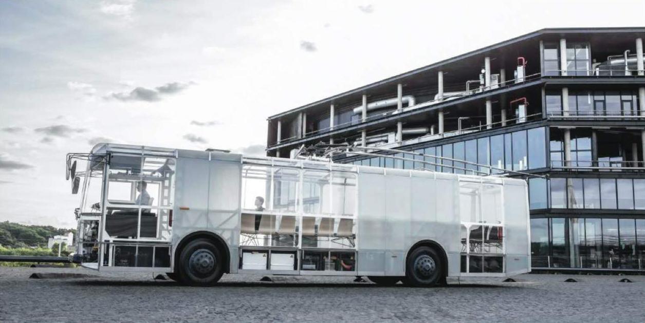 """""""Do architects"""" ir """"Vėjo projektai"""". Elektrinis miesto autobusas """"Dancer"""", troleibuso """"Škoda"""" TR14 konversija"""