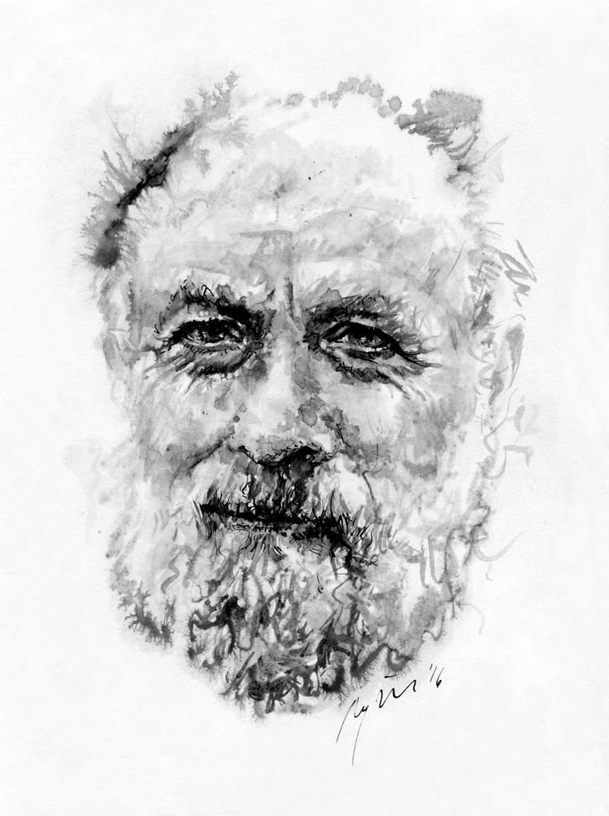 Michelis Butoras. Ugnės Žilytės piešinys