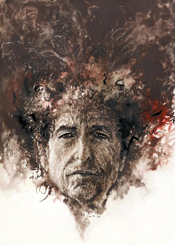 Bobas Dylanas. Ugnės Žilytės piešinys