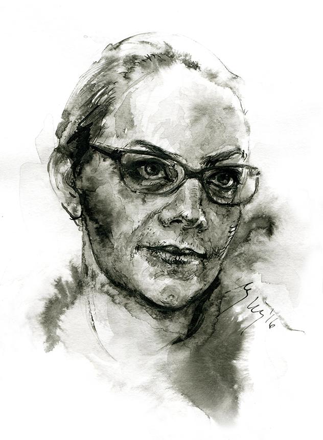 Bronka Nowicka. Ugnės Žilytės piešinys