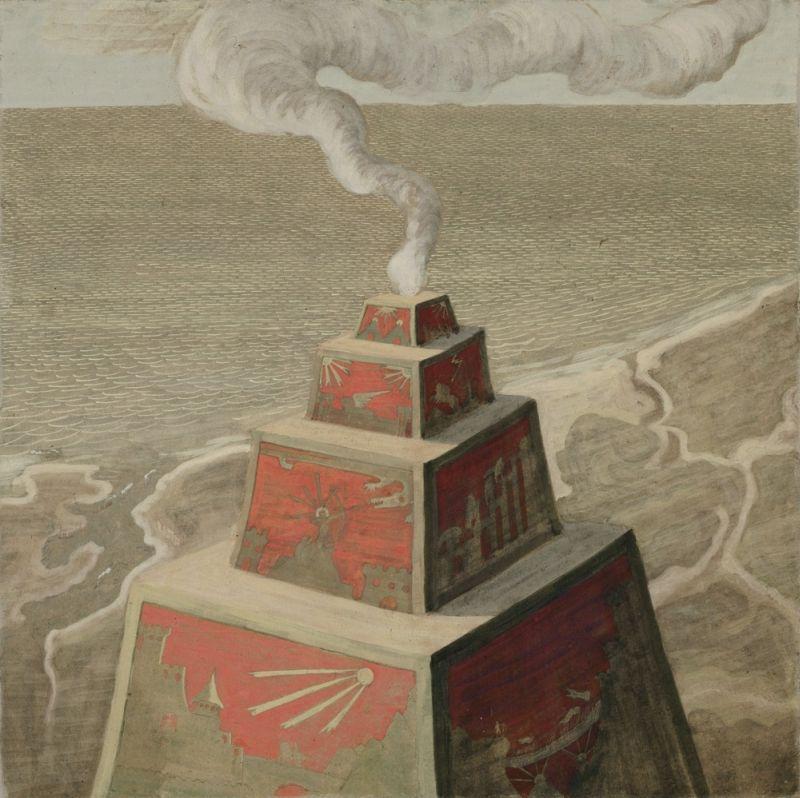 """M. K. Čiurlionis. """"Aukuras"""", 1909"""
