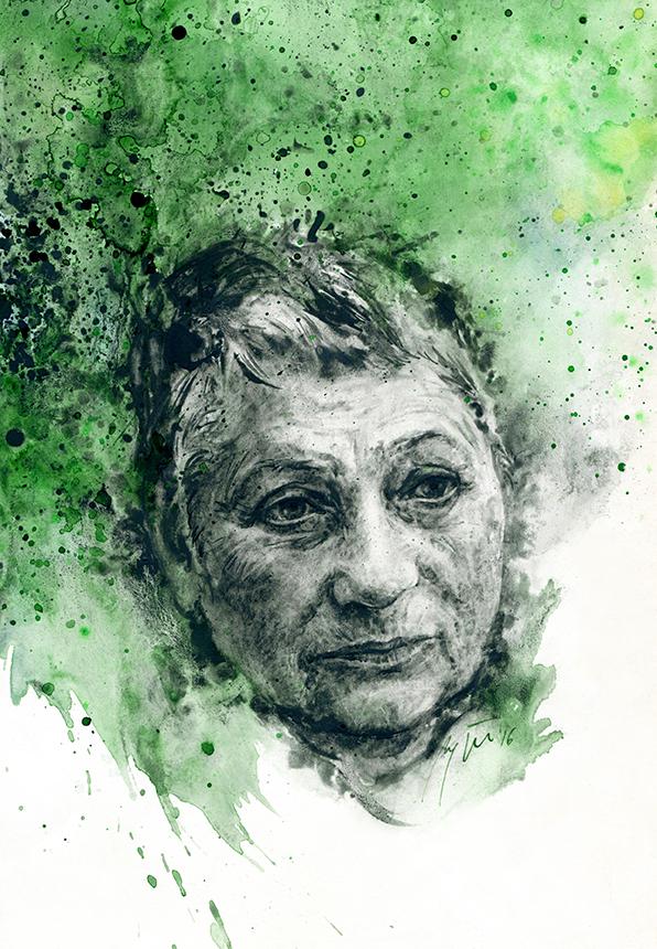 Liudmila Ulickaja. Ugnės Žilytės piešinys