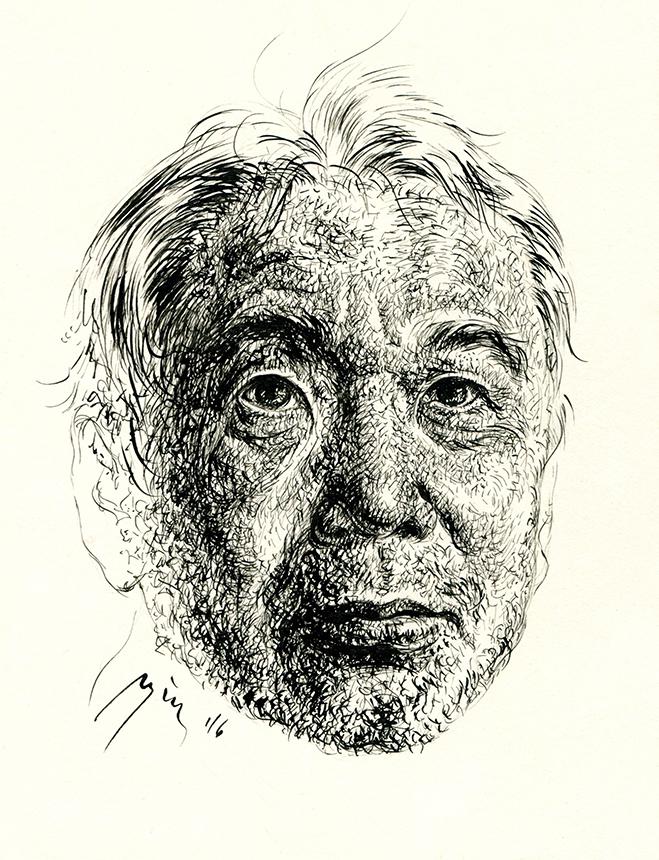 Harukis Murakamis. Ugnės Žilytės piešinys