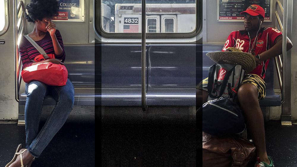 """Vytenis Jankūnas. """"J 2 Manhattan & Back 24-7-365 in HD Vol.1 #016"""" , kadras iš skaidrių video, 2016"""